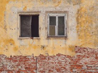 Renovierungsbedürftige Hausfassade