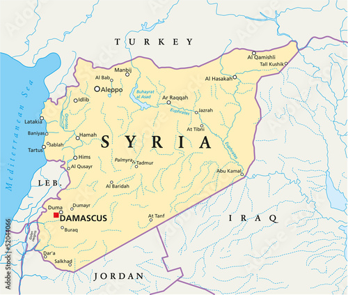 Syria Map (Syrien Landkarte)