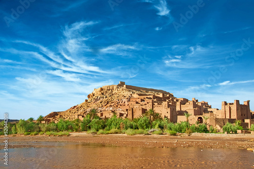 The clay city in the north of Africa, Morocco