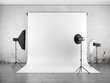 Empty photo studio with lighting equipment - 52044442