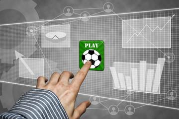 Tochscreen mit Fußball App