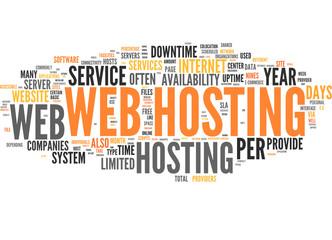 Web Hosting (tag cloud)