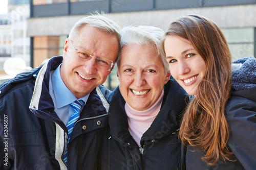Happy seniors with grandchild