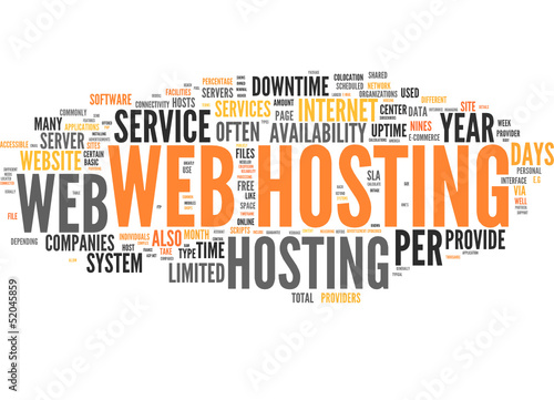 Web Hosting (tag cloud)
