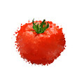 red tomato vector illustration  of blots