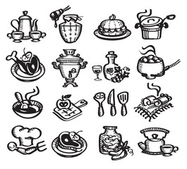 Set icons food. Vector illustration