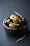 Marinated olives with herbs
