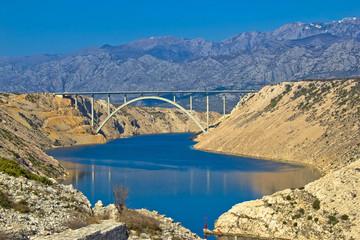A1 Highway bridge under Velebit Mountain