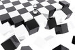 Pawn on collapsing chessboard