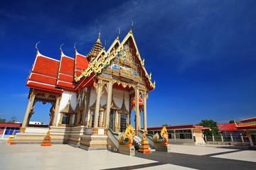 Large temple architecture against blue sky