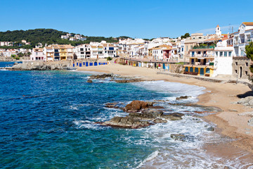 The village of Calella de Palafrugell (Costa Brava, Catalonia, S
