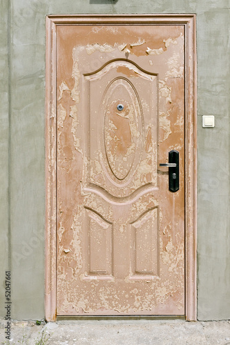 scaly brown  door