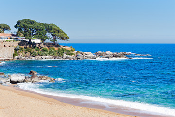 typical Beach in the Costa Brava, Catalonia, Spain