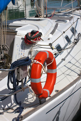 Safety equipment in sailboat