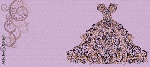 Wedding invitation card, vector illustration