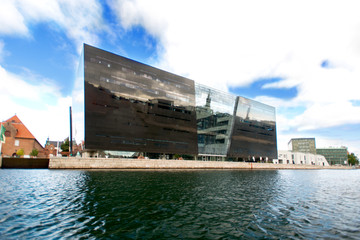 Modern library building at Copenhagen