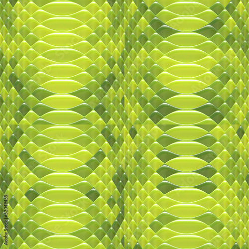 Snakeskin pattern green