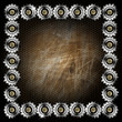 Grunge Metal Background with Gears