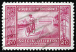Postage stamp Philippines 1947 Manila Post Office and Messenger