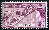 Postage stamp Bermuda 1953 Map of Bermuda