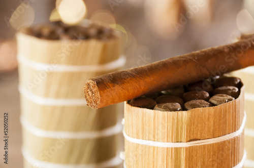 Cuban cigars in drying house
