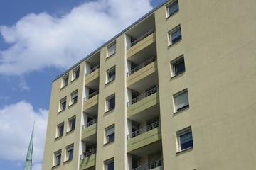 Gelbes Hochhaus