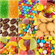 Different colorful sweets backgrounds