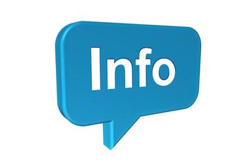 Sprechblase mit Info