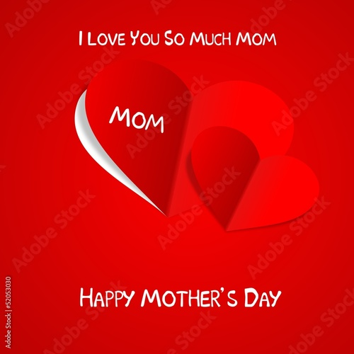 Happy mother's day red paper