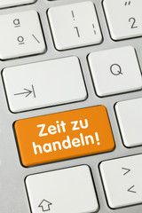 Zeit  zu handeln! Tastatur