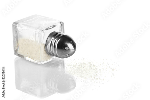 Container for salt isolated on white