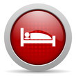 hotel red circle web glossy icon