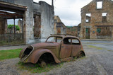 Car of the doctor in Oradour sur Glane