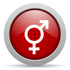 sex red circle web glossy icon
