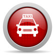 taxi red circle web glossy icon
