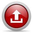 upload red circle web glossy icon