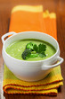 Broccoli cream soup on a table
