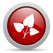 eco red circle web glossy icon