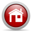 home red circle web glossy icon