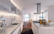 schlichte Küche in penthouse - luxury kitchen
