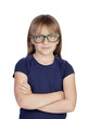 Beautiful little girl with glasses
