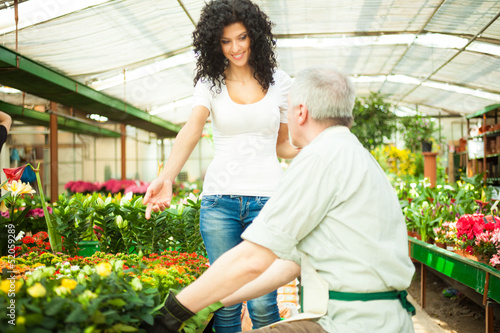 Woman asking for a plant