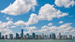 Miami skyline time lapse zoom