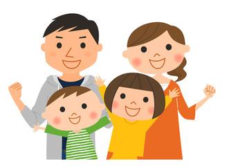 4人家族-応援