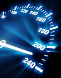 high rate on speedometer