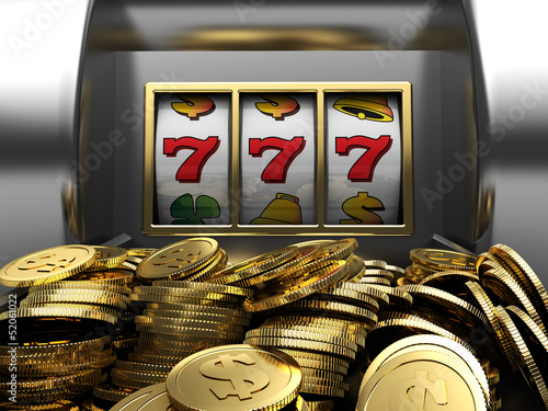 Lucky seven and golden coins