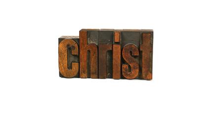 Christ - Letterpress Word