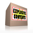 Explosive Contents Package Cardboard Box Shipment Bomb