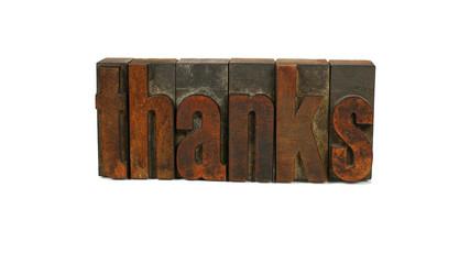 Thanks - Letterpress Word