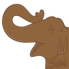 happy elephant head